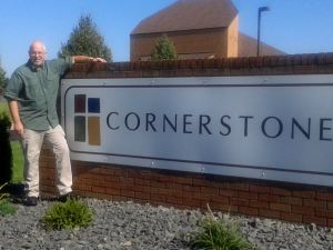 Me and Cornerstone sign